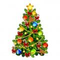 Новогодние ёлки, украшения, пано, картины, наклейк