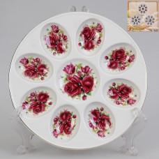 IM56-0616 Тарелка для яиц 20 см. Розы
