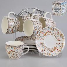 IM57-0100 Набор чайный 12 предметов 240 мл. на металлической подставке