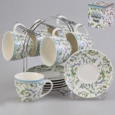 IM57-0101 Набор чайный 12 предметов 240 мл. на металлической подставке