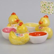IM16-0005 Подставка для 3-ёх яиц 15*14,5*6 см. Цыплята