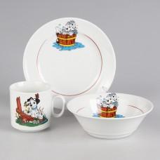 C0497 Набор посуды 3 предмета Далматинцы (4C0497/1Ф34)