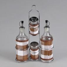 IM99-3904 Набор для специй 5 предметов на металлической подставке