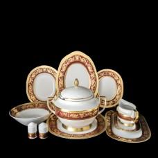 11284 Столовый сервиз на 6 персон 27 предметов Imperial Bordeaux Gold