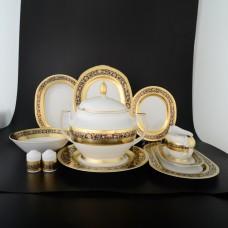 18889 Столовый сервиз на 6 персон 27 предметов Royal Cobalt Gold