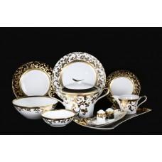 16819 Столовый сервиз на 6 персон 27 предметов Tosca Black Gold