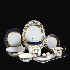 18214 Столовый сервиз на 6 персон 27 предметов Tosca Blueshade Gold