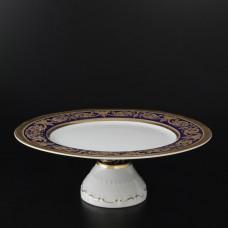 12337 Тарелка для торта 32 см на ножке Imperial Cobalt Cold
