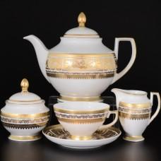 16855 Чайный сервиз на 6 персон 17 предметов Diadem Creme Gold