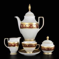 11285 Чайный сервиз на 6 персон 17 предметов Imperial Bordeaux Gold