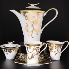 16820 Чайный сервиз на 6 персон 17 предметов Tosca Black Gold