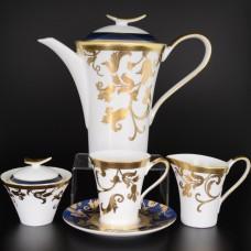 18215 Чайный сервиз на 6 персон 17 предметов Tosca Blueshade Gold