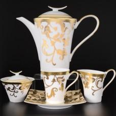 16808/сервиз Чайный сервиз на 6 персон 17 предметов Tosca Creme Gold