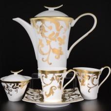16814 Чайный сервиз на 6 персон 17 предметов Tosca White Gold