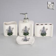 IM99-2313 Набор для ванны 4 предмета: дозатор, подставка для зубных щеток, стакан, мыльница