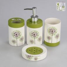 IM99-2316 Набор для ванны 4 предмета: дозатор, подставка для зубных щеток, стакан, мыльница