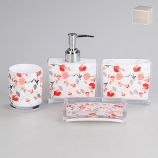 IM99-2317 Набор для ванны 4 предмета: дозатор, подставка для зубных щеток, стакан, мыльница