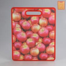 IM99-4711 Доска разделочная 30*38 см. (красная,яблоко)