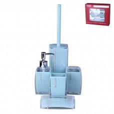 IM99-2372 Набор для ванны 5 предметов: дозатор, стакан для зубных щеток, стакан, мыльница, ершик для туалета