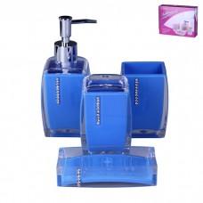 IM99-2375 Набор для ванны 4 предмета: дозатор, подставка для зубных щеток, стакан, мыльница