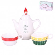 IM99-0544 Набор: чайник, чашка 2 шт., 500 мл. 8,5*22 см. 4 вида