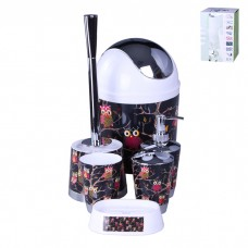 IM99-2347 Набор для ванны 6 предметов: дозатор,подставка под зубные щетки,стакан,мыльница,ершик, ведро