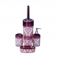 IM99-2337 Набор для ванны 5 предметов: дозатор, подставка под зубные щетки, стакан, мыльница, ершик для унитаз