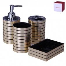 IM99-2339 Набор для ванны 4 предмета: дозатор, подставка под зубные щетки, стакан, мыльница