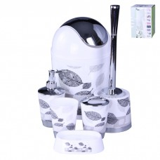 IM99-2341 Набор для ванны 6 предметов: дозатор,подставка под зубные щетки,стакан,мыльница,ершик, ведро