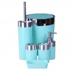 IM99-2350 Набор для ванны 6 предметов: дозатор,подставка под зубные щетки,стакан,мыльница,ершик, ведро