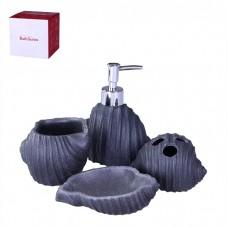 IM99-2351 Набор для ванны 4 предмета: дозатор, подставка под зубные щетки, стакан, мыльница