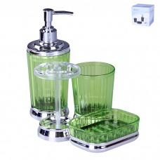 IM99-2353 Набор для ванны 4 предмета: дозатор, подставка под зубные щетки, стакан, мыльница