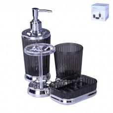 IM99-2354 Набор для ванны 4 предмета: дозатор, подставка под зубные щетки, стакан, мыльница