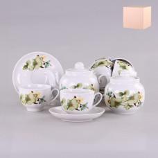 071792 Сервиз чайный 14 предм. Орхидея зеленая