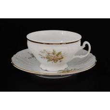 11531 Набор чайных пар 220 мл Бернадотт Зеленый цветок (6 пар)
