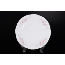 09022 Набор тарелок 17 см Бернадотт Серая роза платина (6 шт)
