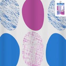 IM99-5610/2 Штора для ванной комнаты с крючками 190*200 см. (розовый)