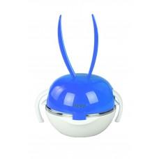 IM99-0343/синий Набор детский 6пр синий(миска-2 шт,поильник,крышка,ложка,вилка)