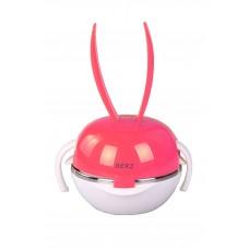 IM99-0343/красный Набор детский 6пр красный(миска-2 шт,поильник,крышка,ложка,вилка)