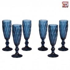 IM99-5701 Набор бокалов для шампанского 6 шт 250 мл МИКС