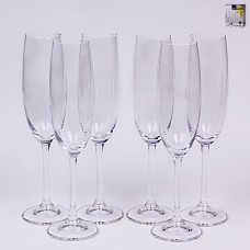 02B4G001220 Набор бокалов для шампанского 6 шт. 220 мл.