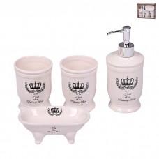IM99-2376 Набор для ванной комнаты 4 предмета: дозатор, подставка под зубные щетки, стакан, мыльница