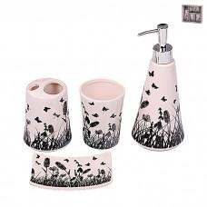 IM99-2381 Набор для ванной комнаты 4 предмета: дозатор, подставка под зубные щетки, стакан, мыльница