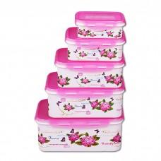 IM99-1406/розовый Набор контейнеров прямоугольных