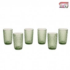 IM99-5705/зеленый Набор стаканов для воды 6 шт 350 мл