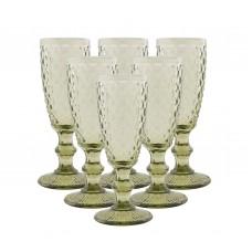 IM99-5708/зеленый Набор бокалов для шампанского 6 шт 250 мл