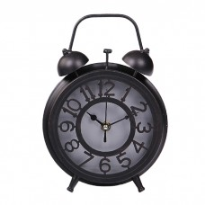 IM99-2918/черный Часы - будильник d=14,5 w=6см.