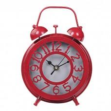 IM99-2918/красный Часы - будильник d=14,5 w=6см.
