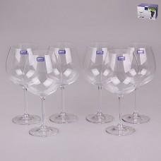02B4G001650 Набор бокалов для вина 6 шт. 650 мл Degustation Прозрачный
