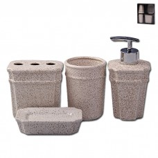 IM99-2382 Набор для ванны 4 предмета: дозатор, подставка для зубных щеток, стакан, мыльница